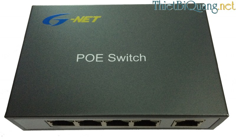 Switch quang PoE 4 Port, Switch mạng 4 Port PoE tốc độ 10/100M