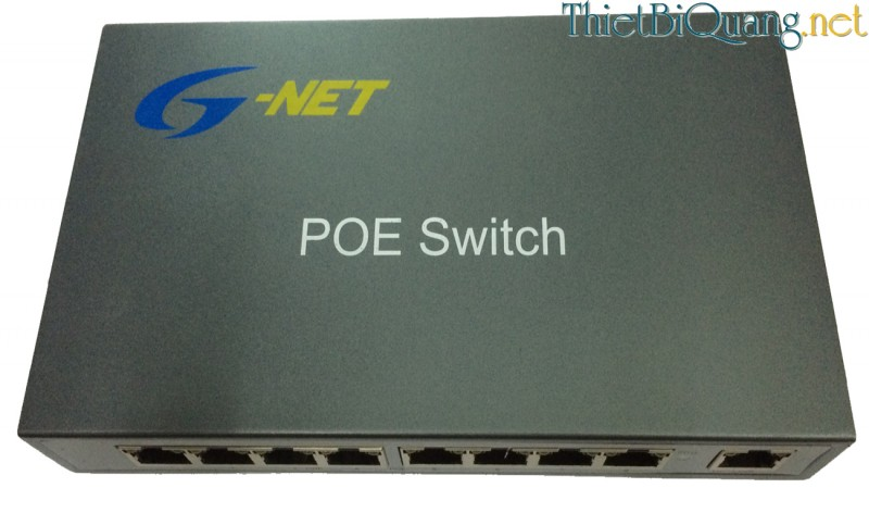 Switch quang PoE 8 Port, Switch mạng 8 Port PoE 10/100Mbps