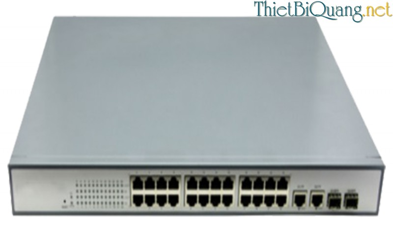 Switch quang PoE 24port, Switch chia mạng 24 Port PoE 10/100Mbps