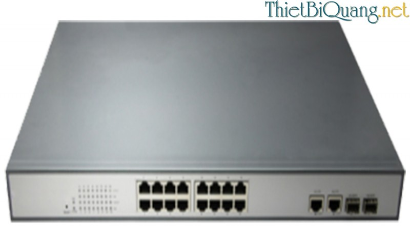 Switch quang PoE 16 Port 10/100/1000Mbps, Optical PoE switch 16 Port 10/100/1000Mbps