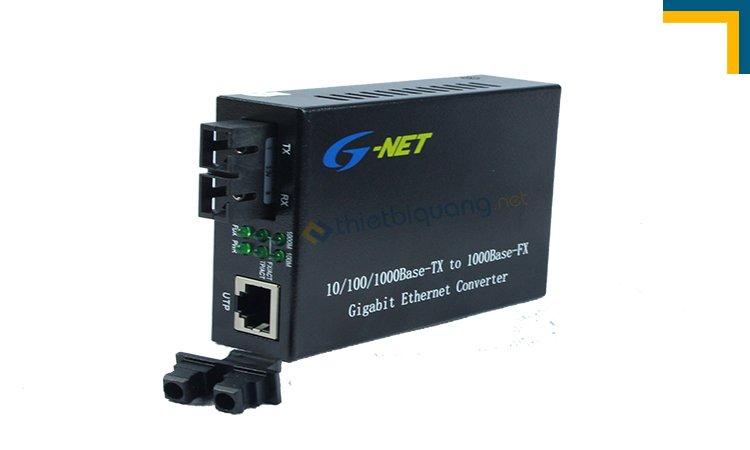 Bộ chuyển đổi quang điện 2 sợi quang tốc độ 10/100/1000 hãng GNet