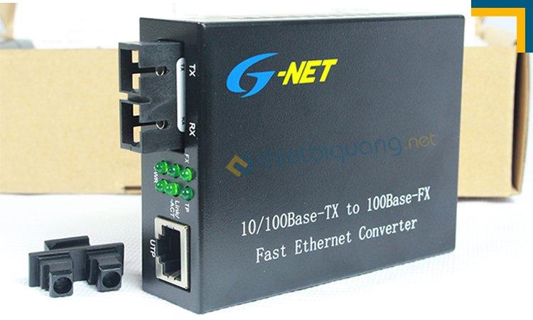 media converter 2 sợi quang tốc độ 10/100 hãng GNet